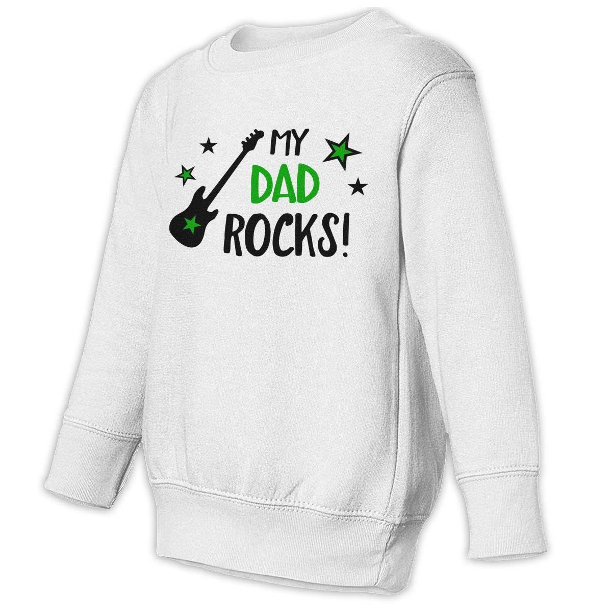Guitar My Dad Rocks Baby Sweatshirt Lovely Toddler Hoodies Cotton T Shirts