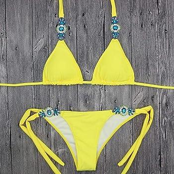 2f7781398618 Bikini Mujer 2019 Push up Logobeing, Brasileño Trajes de bañoexy Bikini  para Mujer Empuje hacia Arriba Acolchado Vendaje de Cristal Trajes de ...