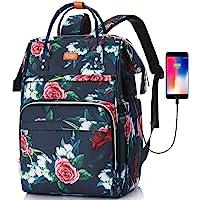 RJEU Mochila Mujer con Bolsillo RFID,Mochila Ligera Portatil 15,6 Pulgadas con Puerto de Carga USB para la Universidad…