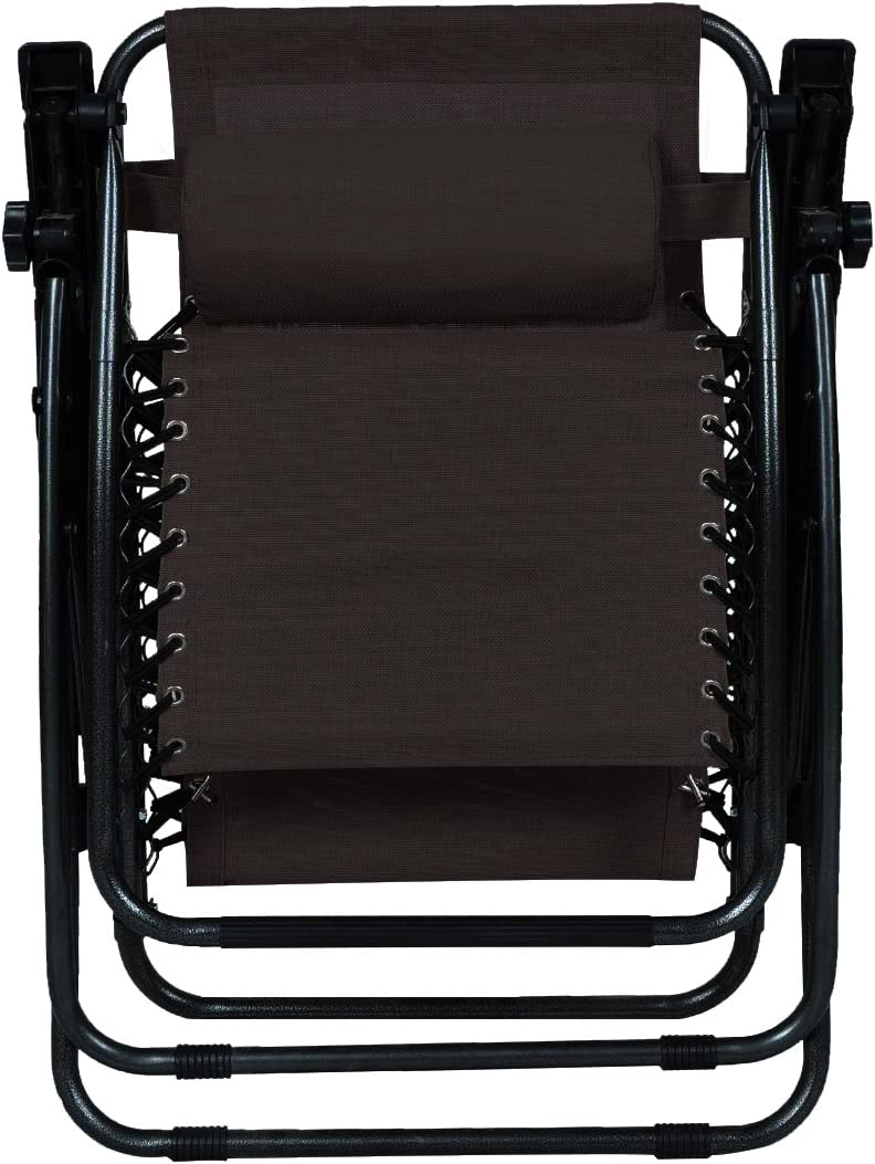 Odaof Zero Gravity Chair Brown Set of 2