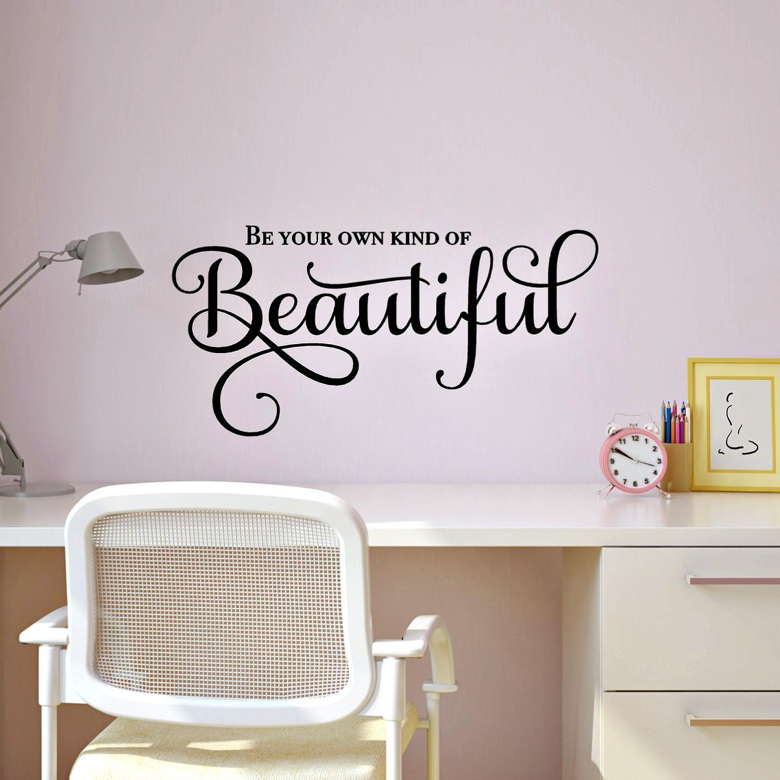 Amazon be your own kind of beautiful inspirational wall decal amazon be your own kind of beautiful inspirational wall decal mirror quote wall decor 24w x 115h black handmade amipublicfo Choice Image