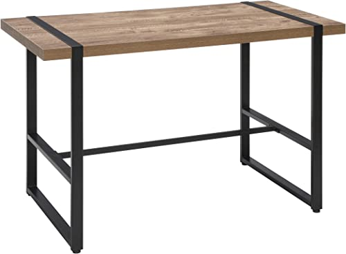 OFM Core Collection Modern 48 Metal O-Frame Computer Desk, in Knotty Oak 1060-BLK-KOA