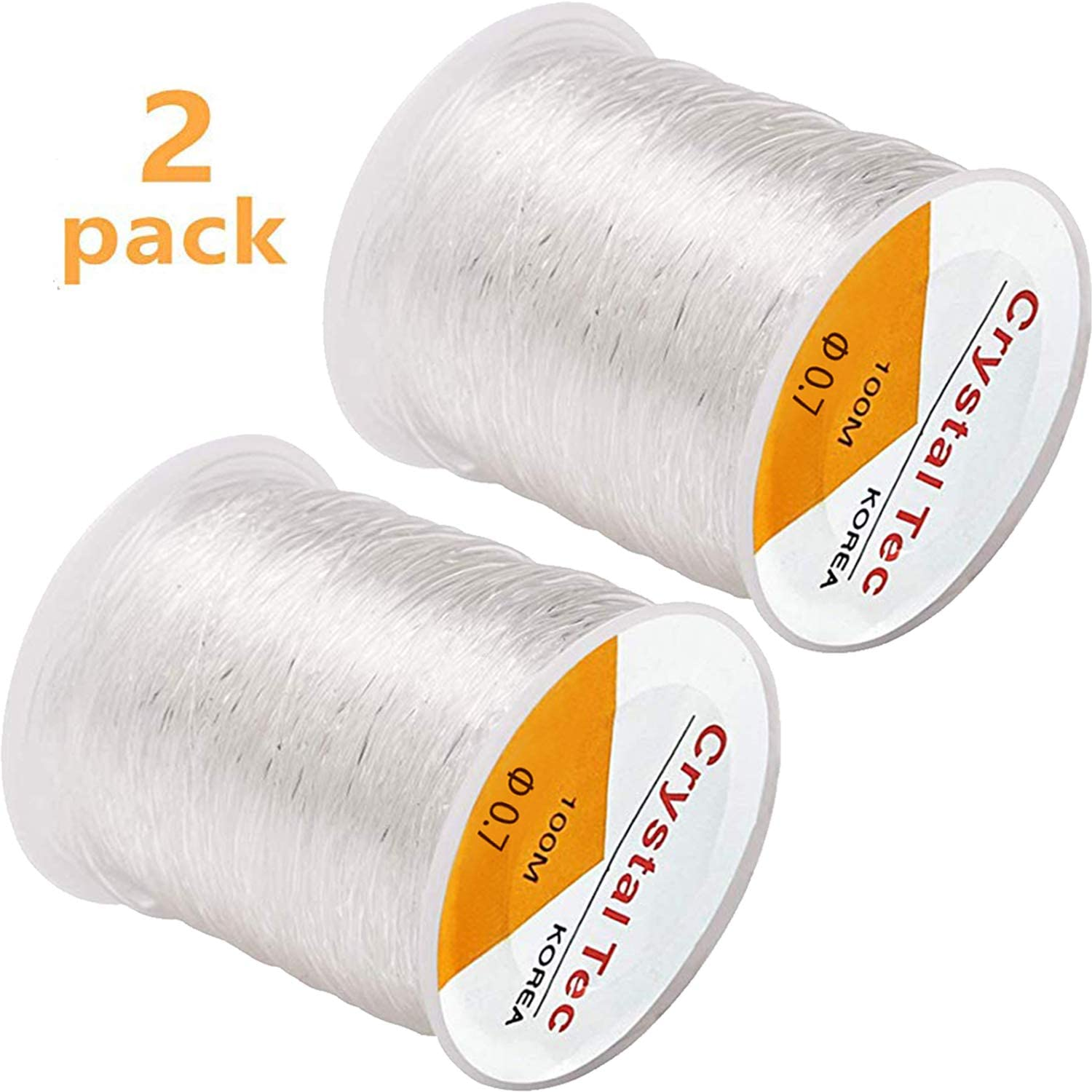 Strong Stretchy Elastic String Assorted Crystal White Beading Cord Line Jewelry