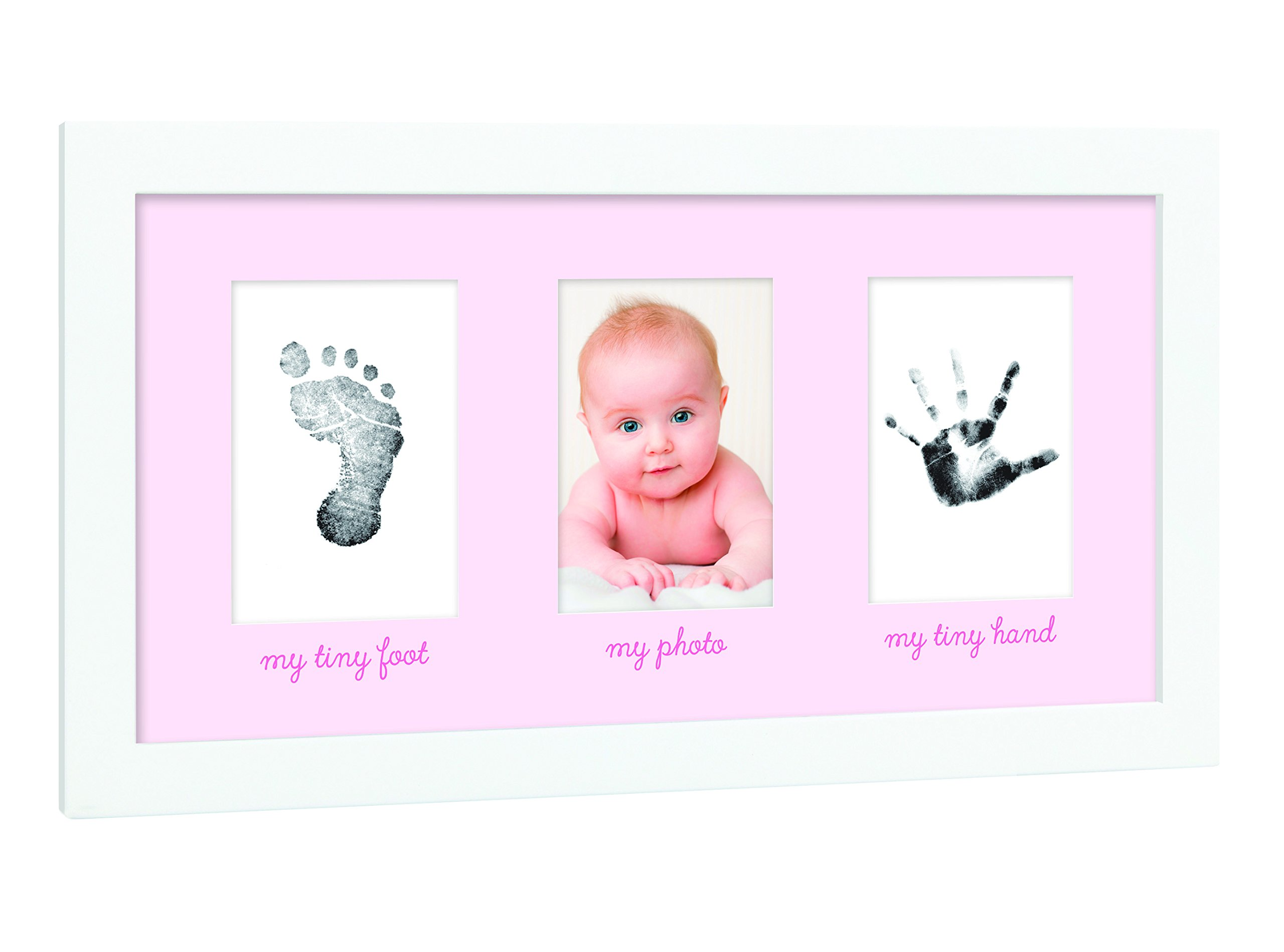 Tiny Ideas Baby's Print Handprint or Footprint Keepsake Photo Frame - A Great Baby Shower Gift by Tiny Ideas
