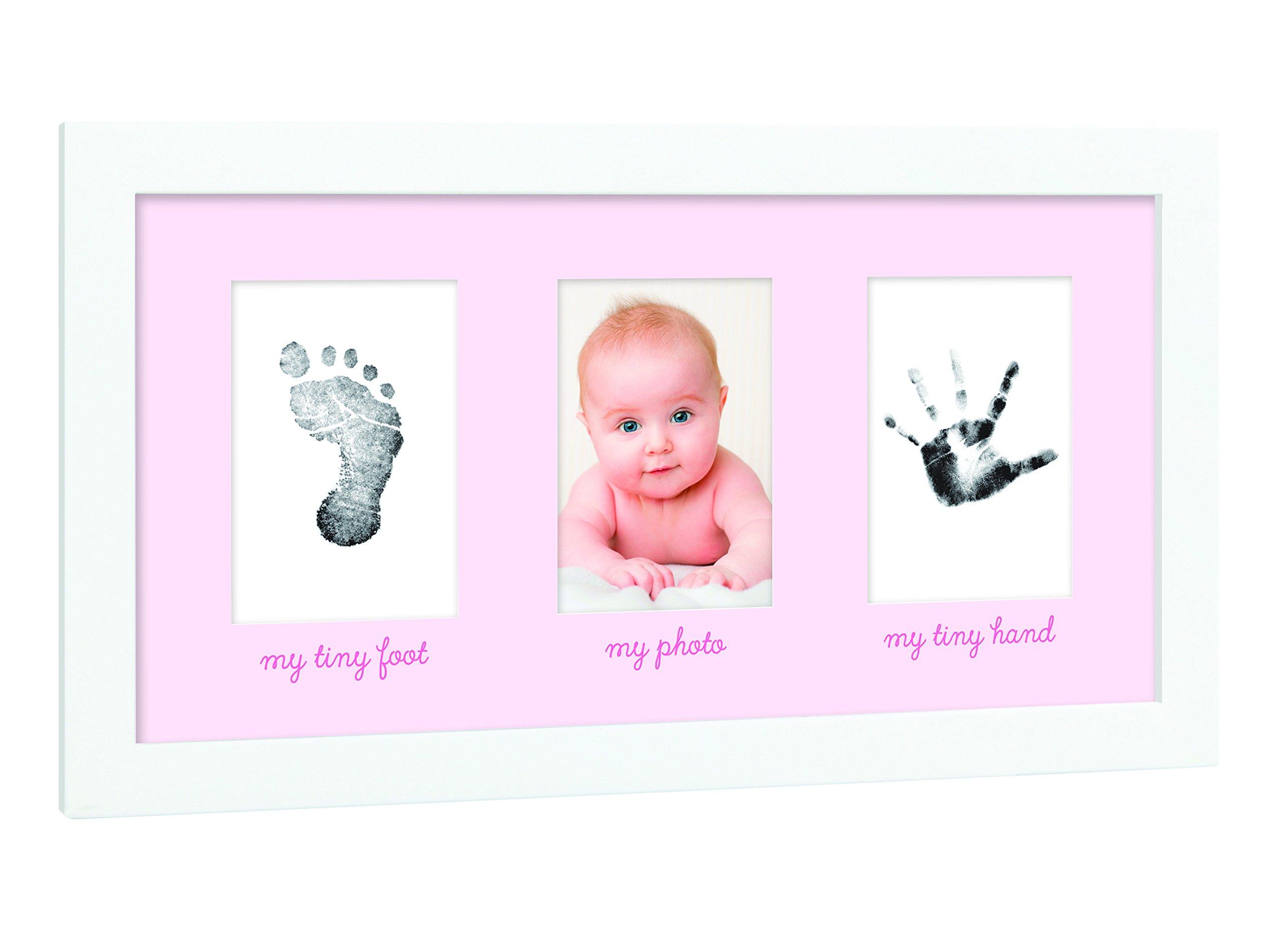 Tiny Ideas Baby's Print Handprint or Footprint Keepsake Photo Frame - A Great Baby Shower Gift