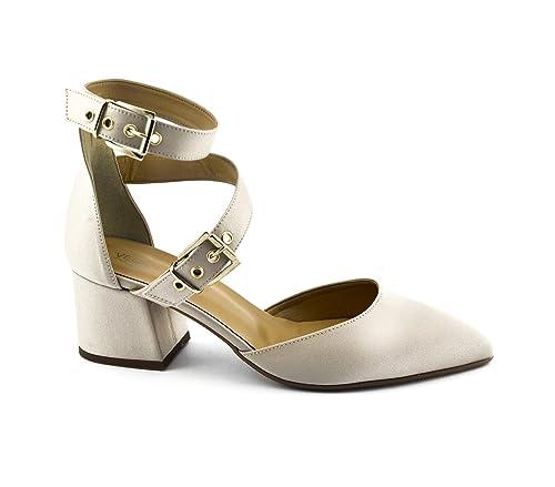 Sandali Tessuto Fibbie Vegan Vsi Donna Shoes Tacco Cinturino Scarpe LqGVUjpSzM