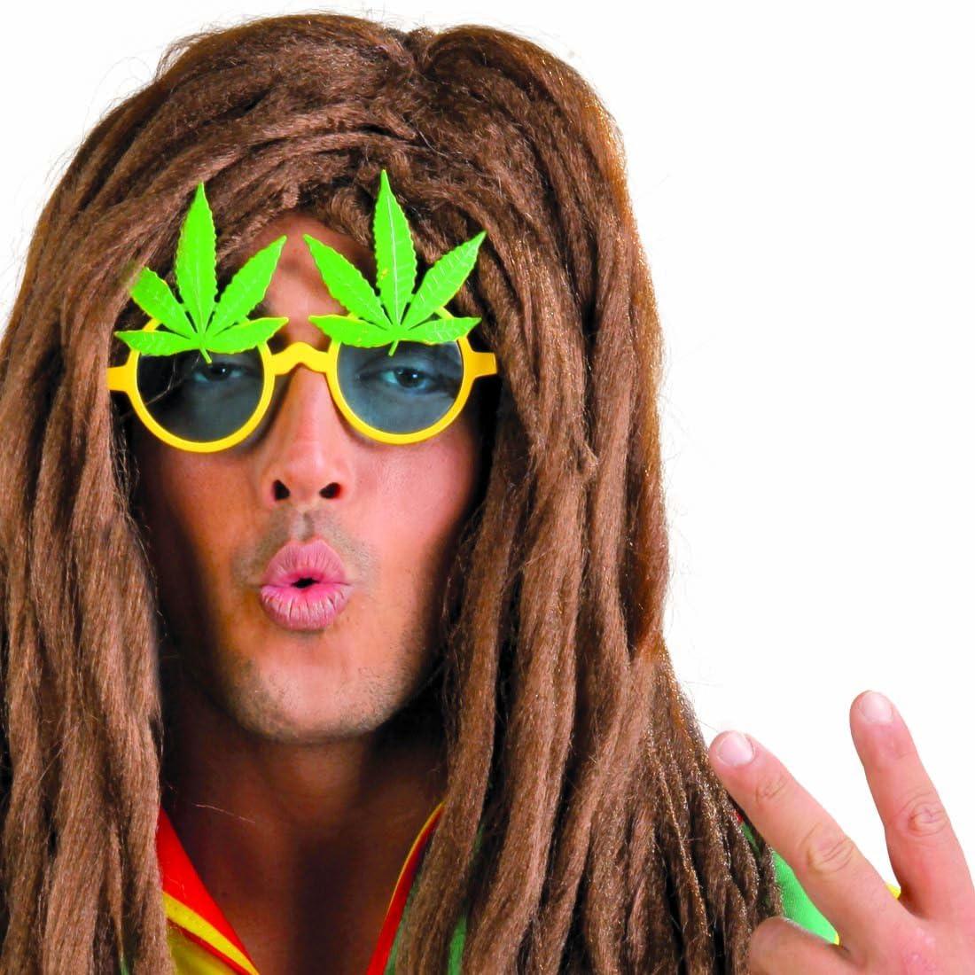 Amakando Anteojos de Sol fumeta Gafas de Fiesta Marihuana ...