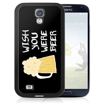 Noir Coque pour Samsung S5 Bière Wish Funny Cool téléphone portable Coque  Amazon.fr High,tech