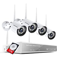 [2021 Newest] 3MP Full HD Security Camera System Wireless with 1TB Hard Drive, SAFEVANT 8 Channel Home NVR Systems with…