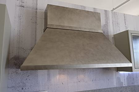 Cappa Taller Industrial Design Chimenea cuadrado efecto metal 120 150 180 cm_150: Amazon.es: Hogar