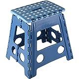 Kesper Klapptritt, faltbar, farblich sortiert: blau und schwarz, 31 x 22 x 39 cm, 1 Stück