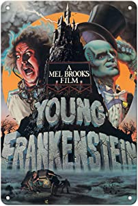 Pacifica Island Art Young Frankenstein - Starring Gene Wilder - Directed by Mel Brooks - Vintage Film Movie Poster by John Alvin c.1974-8in x 12in Vintage Tin Sign