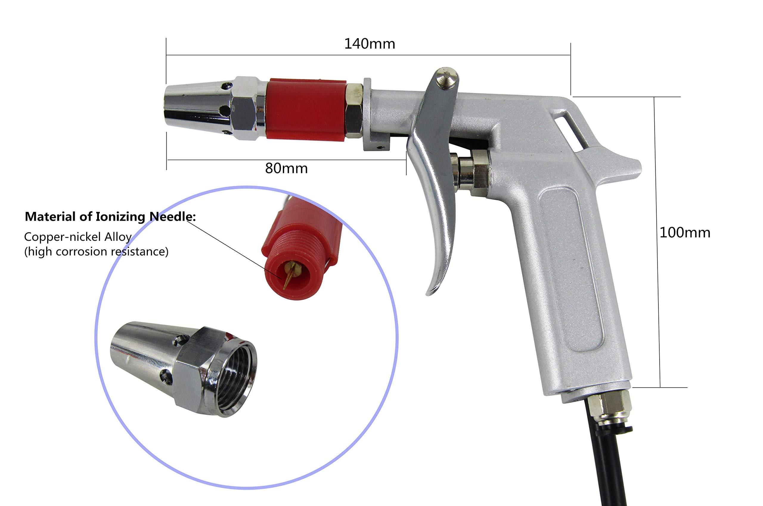 YUCHENGTECH Ionizing Air Gun Antistatic Sprayer Static Electrostatic Eliminator + High Voltage Generator 110V by YUCHENGTECH (Image #5)