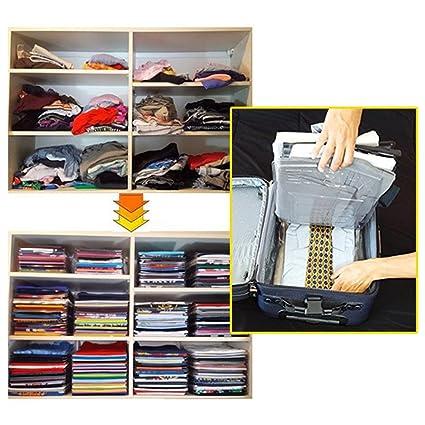 10 unids Inicio Conveniente Multifuncional Carpeta de Ropa Camiseta Polo Ropa para adultos Prendas de vestir