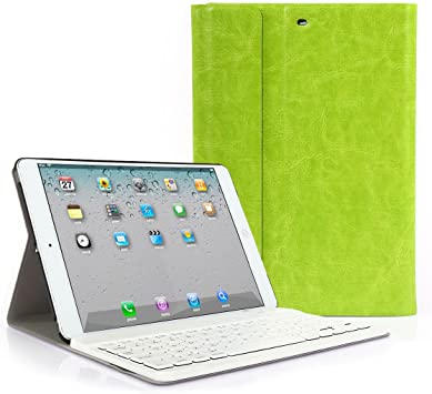 iPad MINI 123 Funda con Teclado Bluetooth ,CoastaCloud iPad MINI 123 Funda Cubierta Protectora con Teclado Inalambrico QWERTY Español para Apple iPad ...