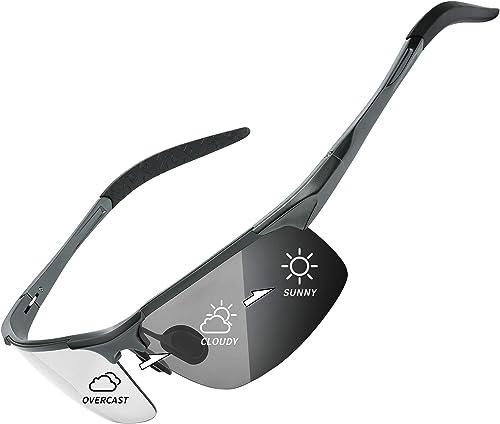 Polarized Photochromic Wrap Around Sunglasses