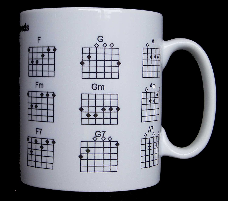Taza de acordes de guitarra: Amazon.es: Hogar