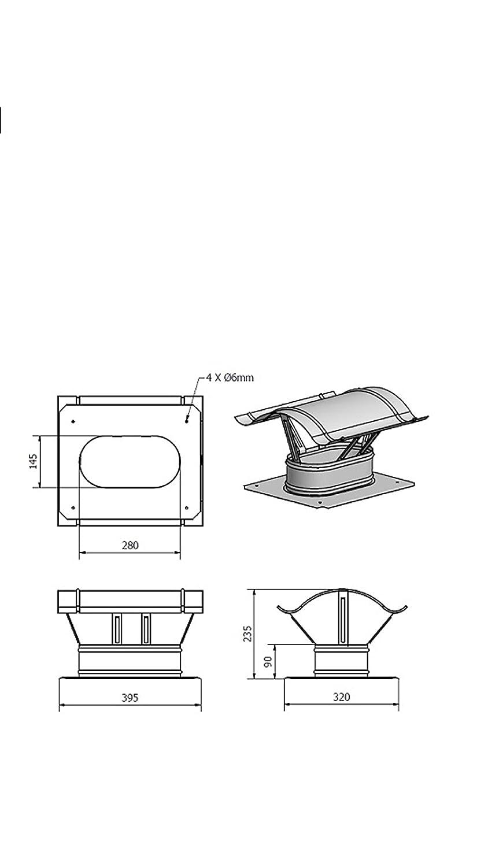 schornsteinabdeckung kaminabdeckung Chapeau de chemin/ée en acier inoxydable