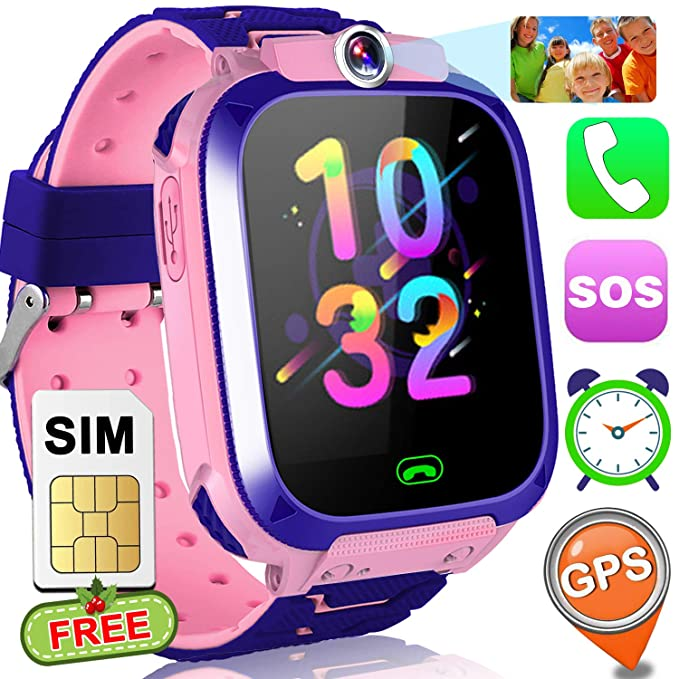 Kids Smart Watch Phone With Free SIM Card GPS Tracker For Girls Boys 15quot