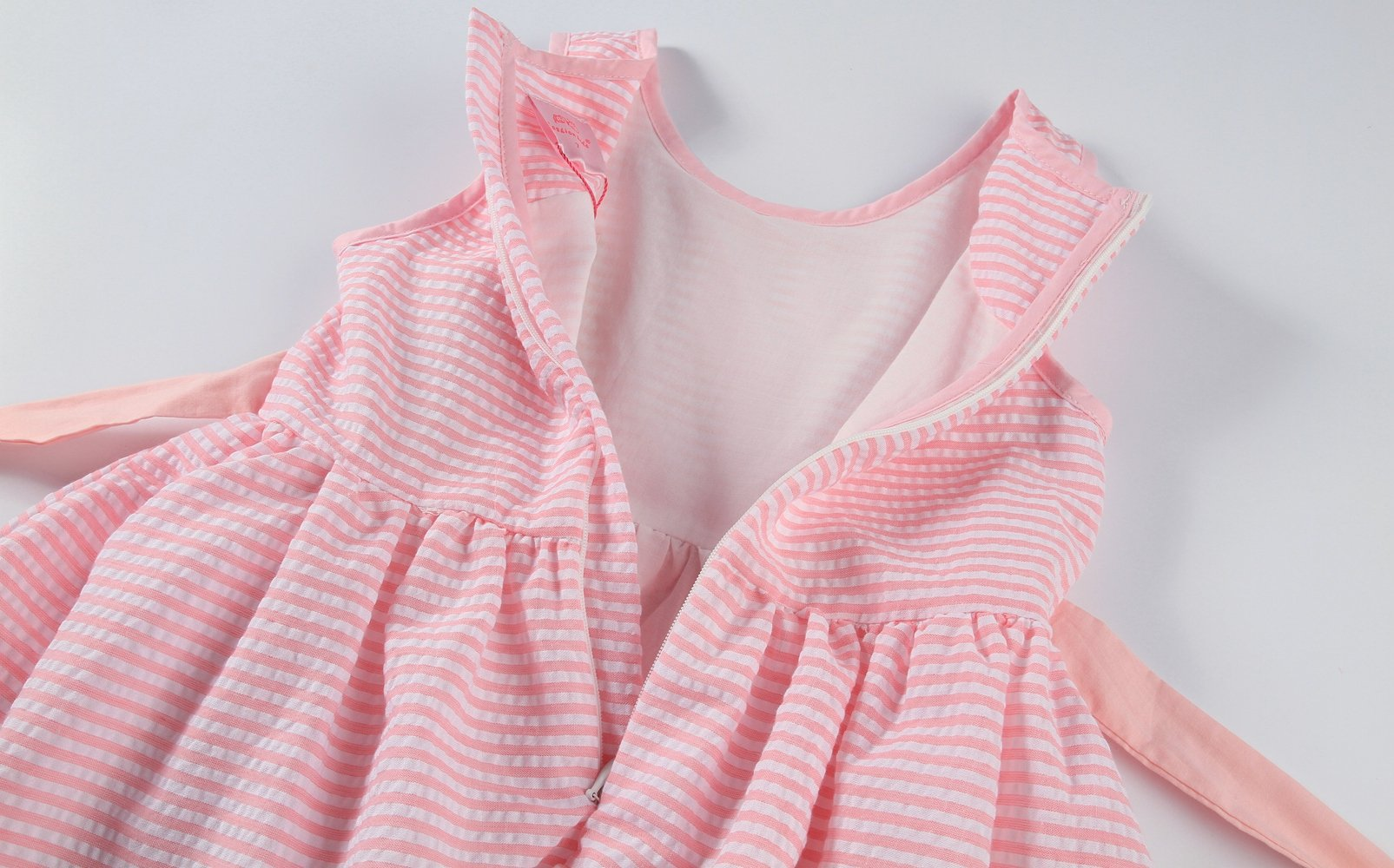 Sharequeen Striped Cotton Big Girls Summer Dress Dog Bird Cat Embroidery Pink Color A090(Pink Stripe, 6 Years) by Sharequeen (Image #7)