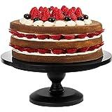 10-Inch Black Metal Classic Mini Decorative Cake & Dessert Pedestal Display Stand -MyGift Home