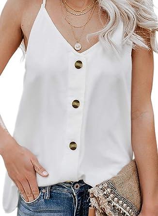Camiseta Tirantes Mujer Blusa Top Sin Mangas Cami Tank Tops De Gasa Casual para Mujeres: Amazon.es: Ropa y accesorios