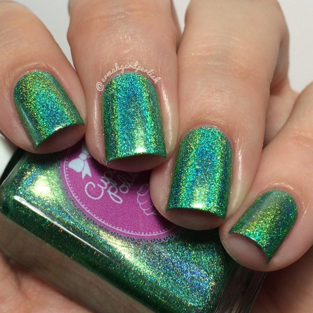 Leaf Me Alone - holographic nail polish by Cupcake Polish