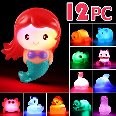 Baby Colorful Bathroom LED Light Bath Toy in Tub Funny Children Light-Up Gifts