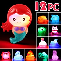 Juguete de Baño Laxdacee, Pack de 12 Animales