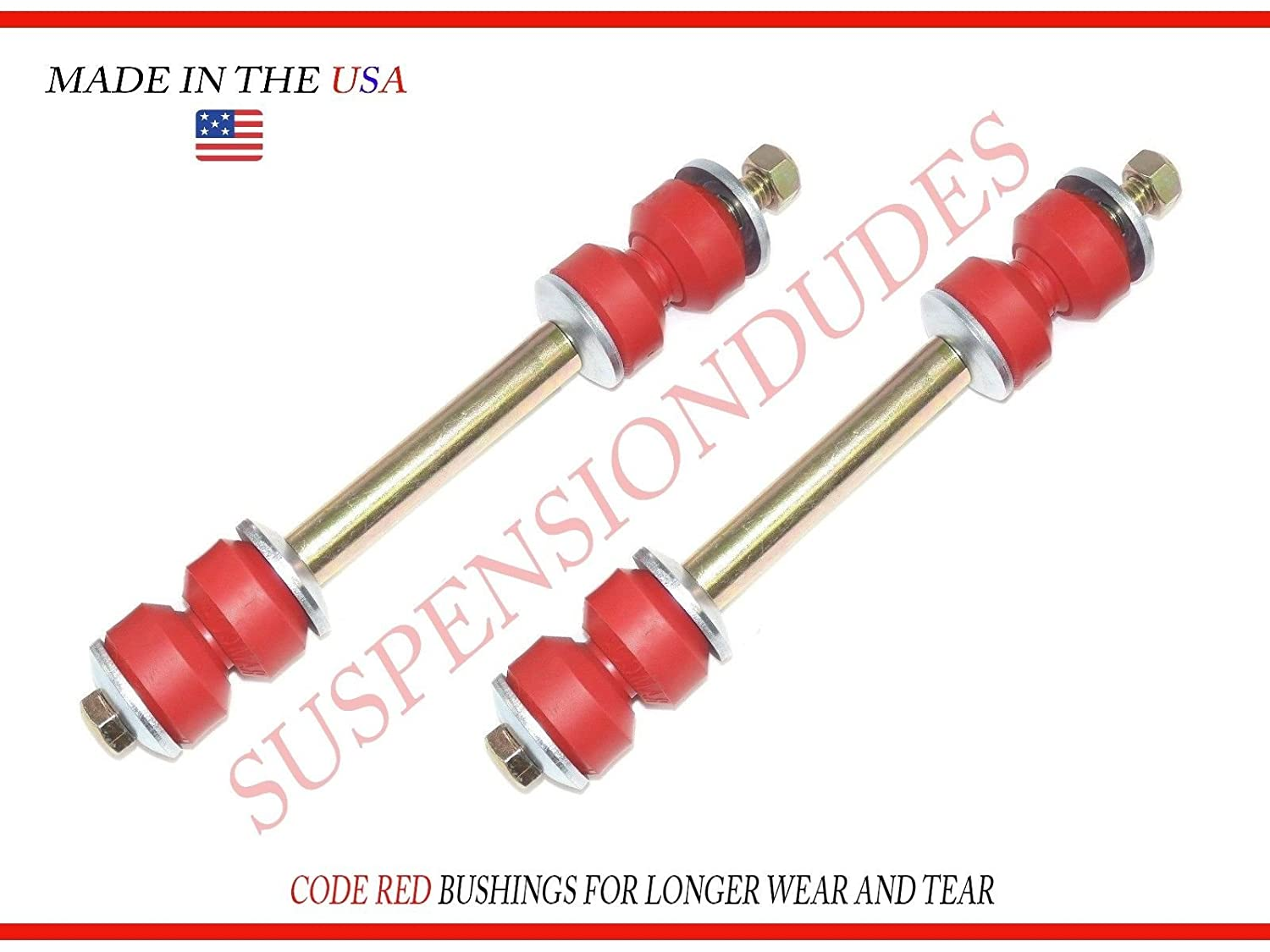 2 Rear STABILIZER BAR Links fits Ford Explorer BUSHINGS Made in The USA K80898 Suspension Dudes