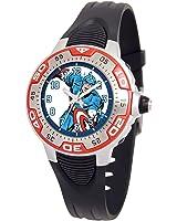 Marvel Kids' MA0108-D546-Red Marvel Captain America Spectrum Watch