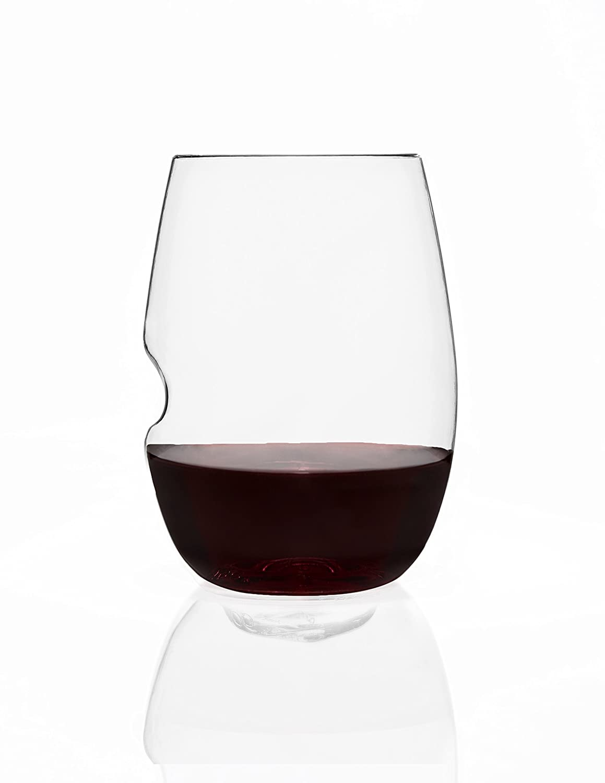 Wine Glass With Wine Part - 25: Amazon.com | Govino Wine Glass Flexible Shatterproof Recyclable, Set Of 4:  Plastic Wine Glasses: Glassware U0026 Drinkware