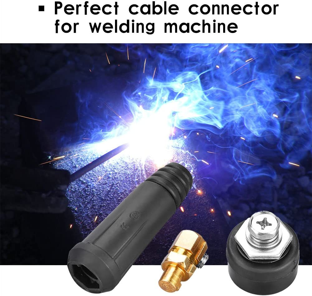 DKJ35-50 Black DKJ Series European Style Welding Cable Quick Connector Male Plug and Panel Socket Quick Fitting Adapter
