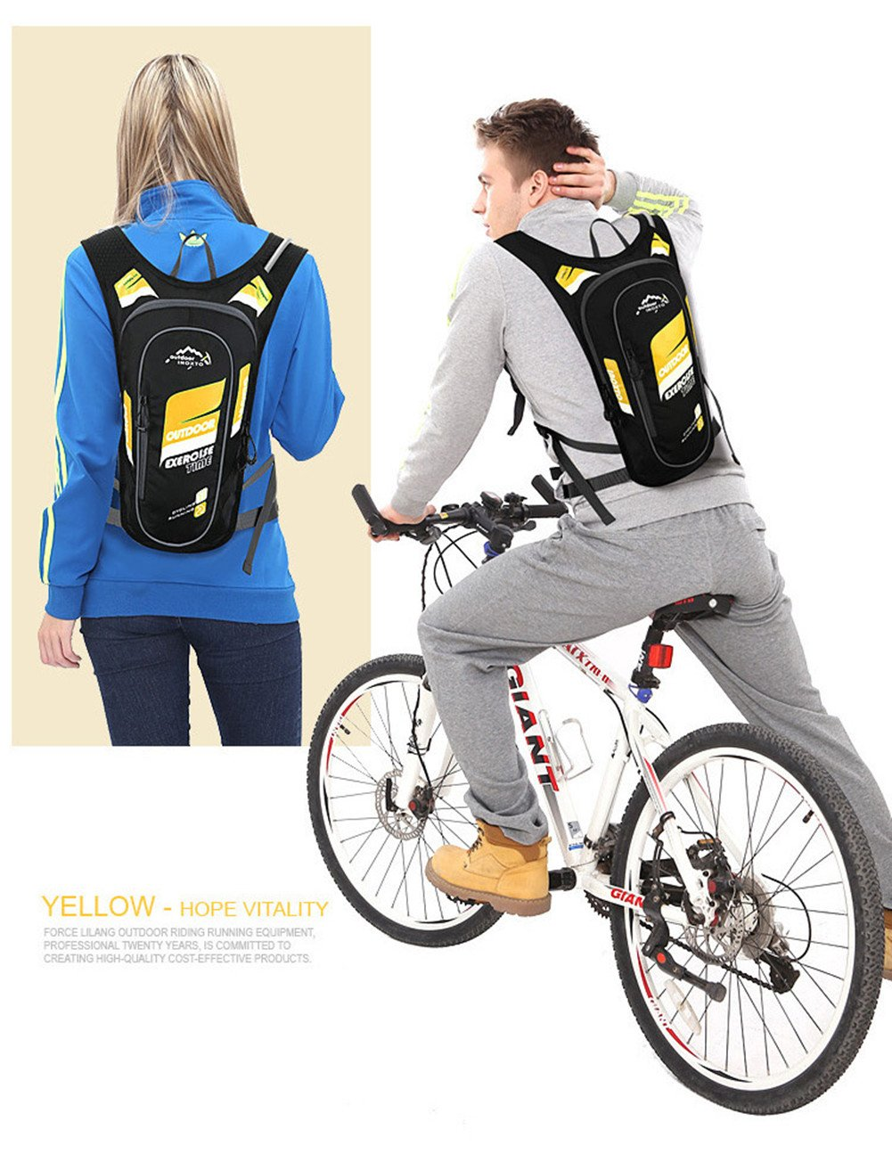 Happy-yoyo 5L MTB equitazione zaino per escursionismo zaino da ciclismo da corsa cross-country Race sport all aperto zaino idratazione confezioni