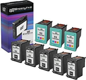 Speedy Inks Remanufactured Ink Cartridge Replacement for HP 92 & HP 93 (5 Black, 3 Color, 8-Pack)