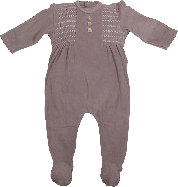 Amazon.com: Newborn Baby Footie Smocked Velour 7 pc Coverall
