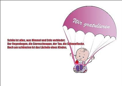 La Niña Bebé tarjeta/tarjeta de felicitación recién nacido ...