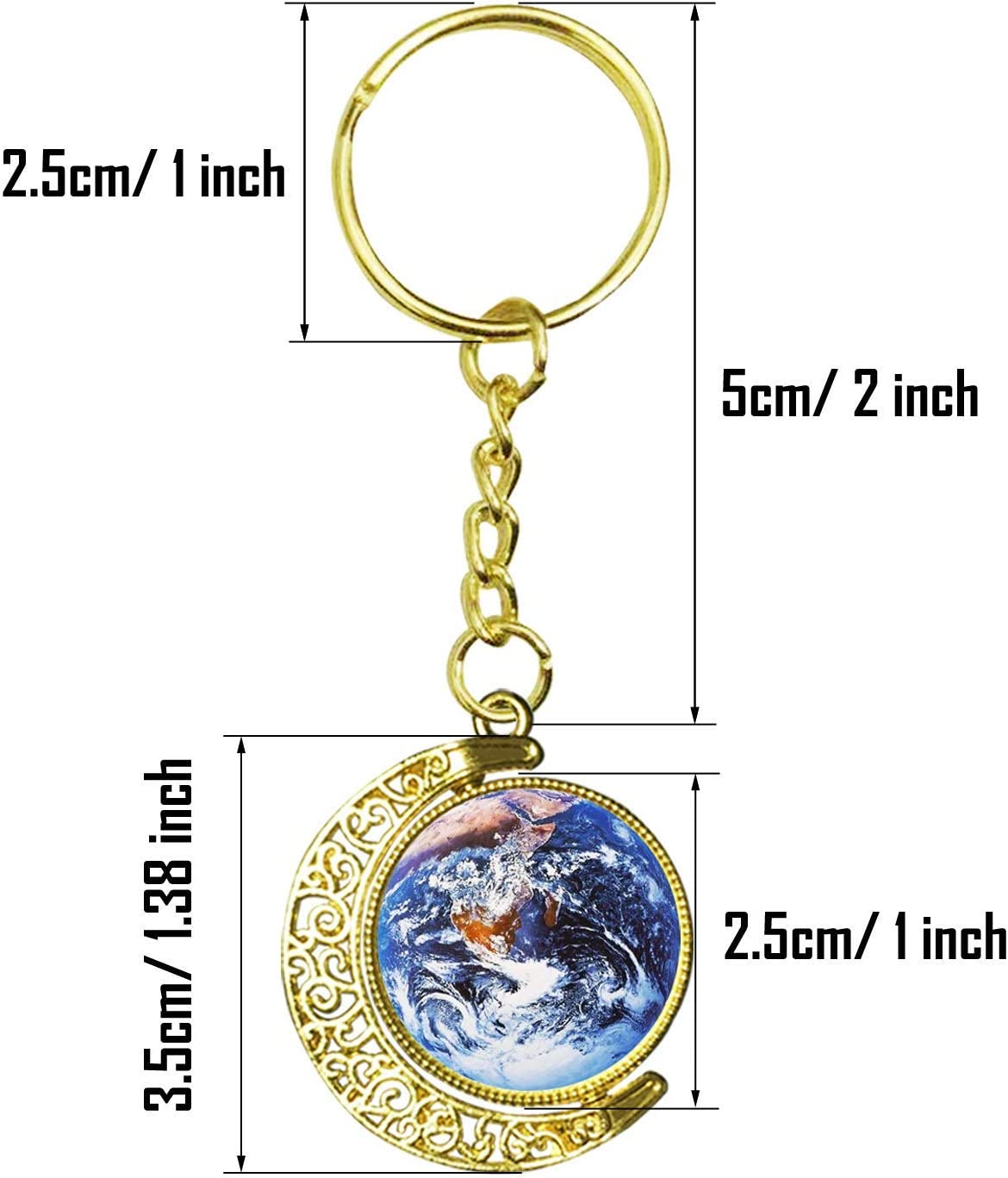 36 PCS Pendant Trays Kit 18 PCS Glass Dome Tiles Clear Cameo and Pendant Buckle for Jewelry Making Allazone 25 MM 9 PCS Moon Rotation Double Side Round Blank Bezel Pendant Trays