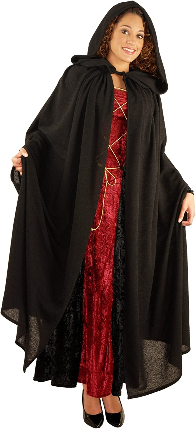 Burlap Cloak for Adults-Unisex-Brown Renaissance New by Charades One Size