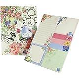 Punch Studio Sticky Pad Portfolio - Pink Blossom Birds 43010