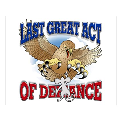 Last act of defiance eagle and mouse