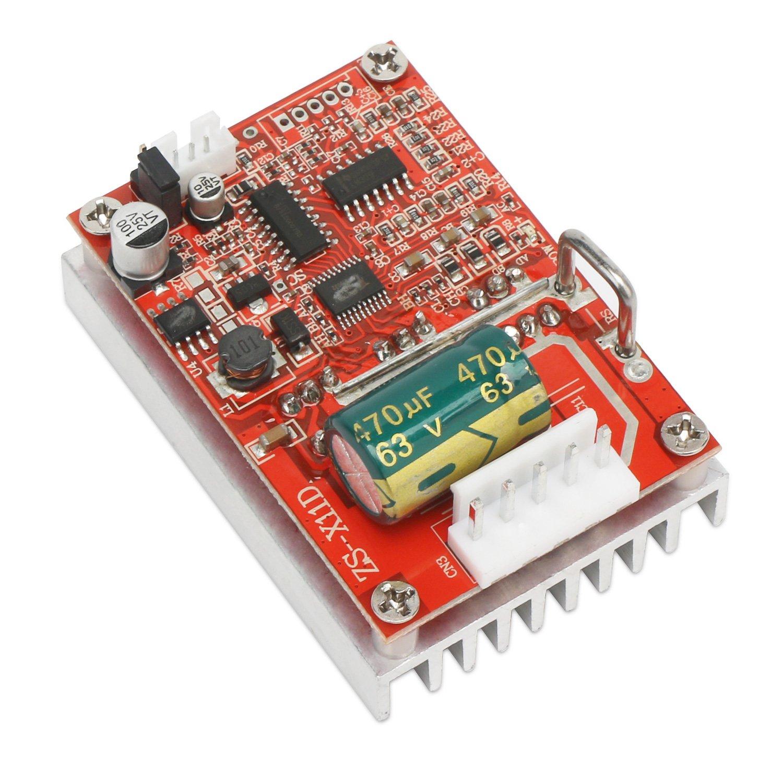 Brushless Dc Motor Speed Controller Drok 6 50v Three Phrase Phase Control Circuit Dual H Bridge Sensorless Board 12v 24v Bldc Driver Regulator Monitor 380w