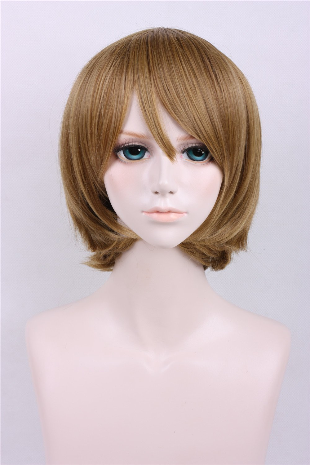 LanTing Peluca Lovelive Hanayo Koizumi Brown Short Styled Woman Cosplay Party Fashion Anime Human costume Full Wigs Synthetic Hair Heat Resistant Fiber ...