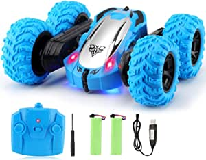 Tobeape RC Cars, 4WD Off Road Remote Control Car, Double Sided Rotation Stunt Car, 360°Spin Flips Vehicle, 2.4GHz RC Stunt Car, High Speed Rock Crawler Vehicle for Birthday Gifts