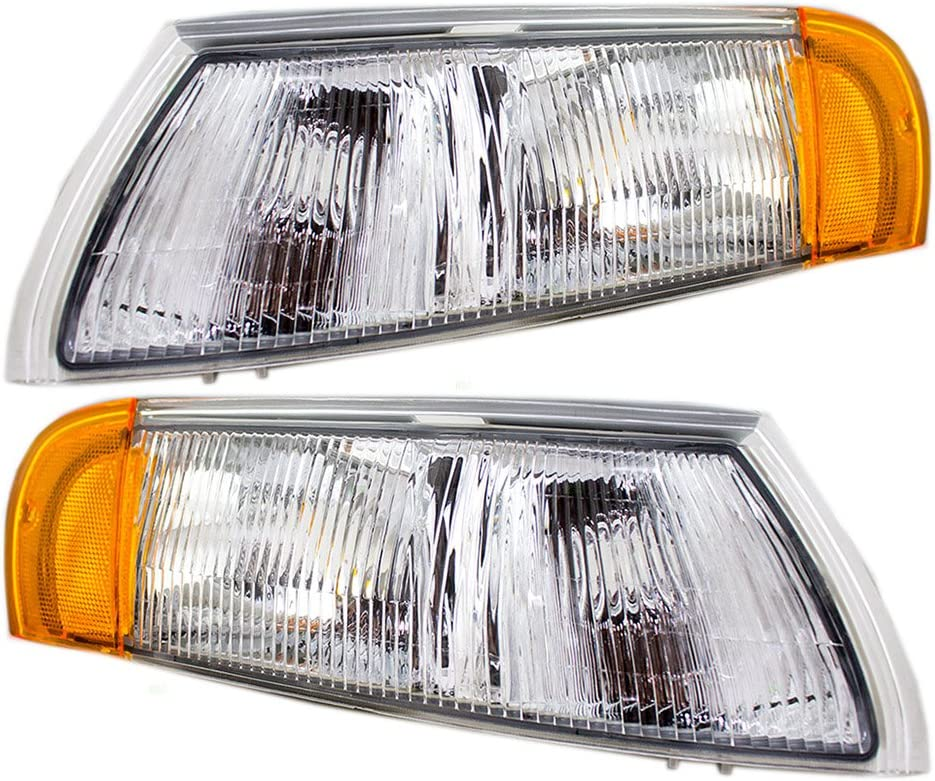 Driver and Passenger Cornering Signal Side Marker Lights Lamps Replacement for 1992-1995 Taurus SHO Sable F2DZ15A201D F2DZ15A201C