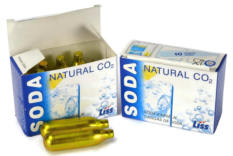 20 x Liss Natural CO2 8g Soda Capsules (2 x Full Box)