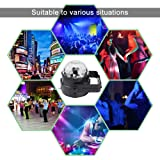 Led Party lights,AOFU 2nd Generation Strobe Dance Light Disco DJ Party Lights Disco Ball Strobe Light 7Color Sound Activated lamp Karaoke Machine Kids Birthday Gift Stage Home Holiday Party Supplies