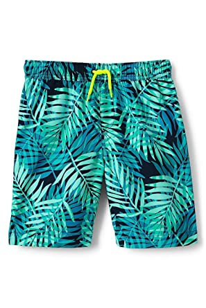7dc3d361960ce Amazon.com: Lands' End Boys Husky Print Swim Trunks, S, Deep Sea ...