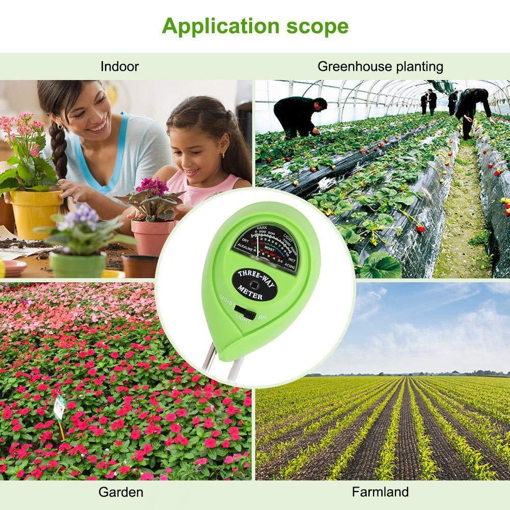 Soil Testing Circle 3 In 1 Plant Flowers Analyzer Pointer Soil Moisture PH Light Meter Tester Hygrometer Test Detector Damp Tester Instrument Zdmathe