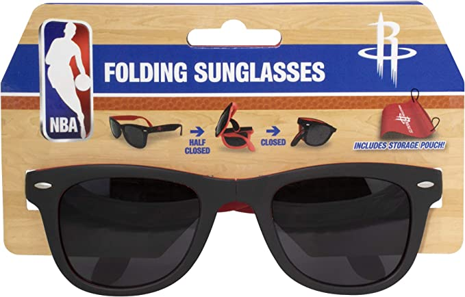 Houston Rockets Folding Sunglasses with Carrying Pouch